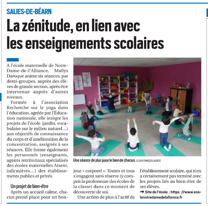 Article La zeěnitude en lien avec les enseignements scolaires 29 mars 2021 (1)
